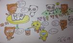 스케치북에 그린 팬아트 입니다~!!